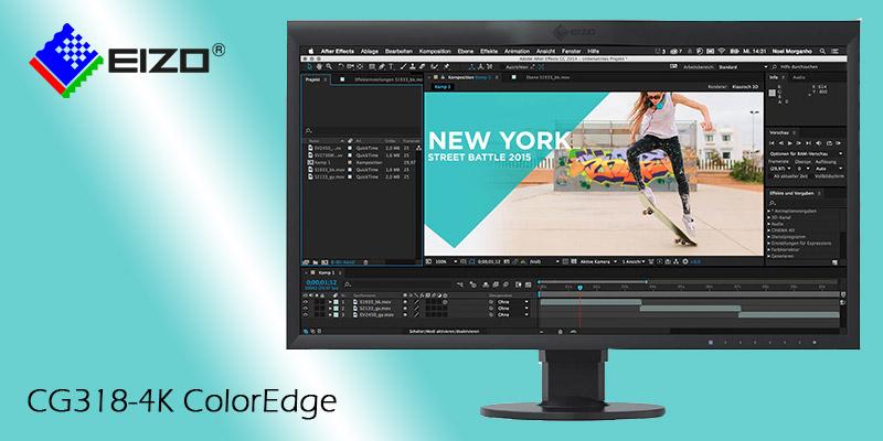 Monitor EIZO per il video editing professionale