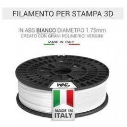 Filamento ABS per stampante/penna 3D 200gr - Bianco - plastica in granulo vergine