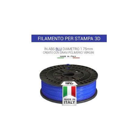 Filamento ABS per stampante/penna 3D 200gr - Blu - plastica in granulo vergine