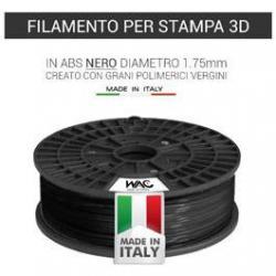Filamento ABS per stampante/penna 3D 200gr - Nero - plastica in granulo vergine