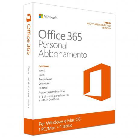 Microsoft Office 365 Personal 1 PC/Mac + 1 Tablet - SOLO PER PRIVATI