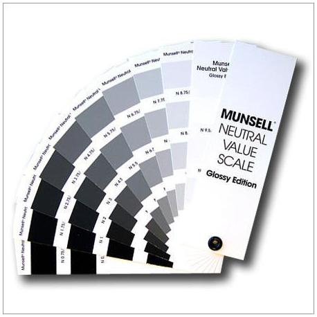 Munsell Glossy Neutral Value Scale-Glossy Finish