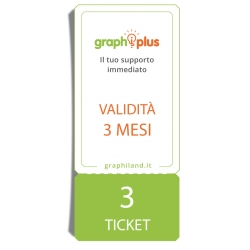 Graphiplus - 3 Ticket di supporto da remoto