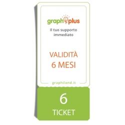 Graphiplus - 6 Ticket di supporto da remoto