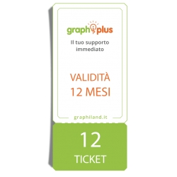Graphiplus - 12 Ticket di supporto da remoto