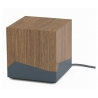 MANU QUBE WOOD - BASE RICARICA WIRELESS E POWERBANK DI DESIGN