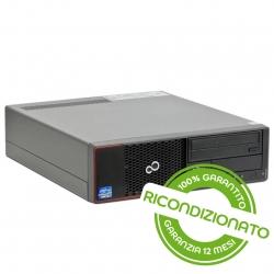 PC Desktop - FUJITSU ESPRIMO E710 SFF Core i3 4GB RAM 240GB SSD Win 10 Pro [RICONDIZIONATO]