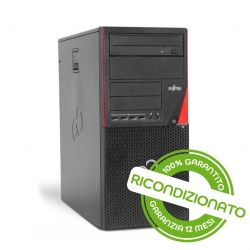 PC Desktop - Fujitsu P720 Tower Core i5 4GB RAM 240GB SSD Win 10 Pro [RICONDIZIONATO]
