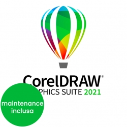 CorelDRAW Graphics Suite 2021 Enterprise versione elettronica IT per Win e Mac + Maintenance