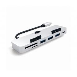 PRO HUB USB-C ALLUMINIO CON AGGANCIO PER IMAC E IMAC PRO SILVER