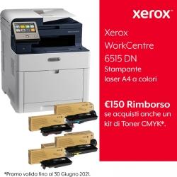 Xerox WorkCentre 6515 DN con Kit Extra Toner Completo Standard + Rimborso 150 Euro da Xerox FINO AL 30/06/2021
