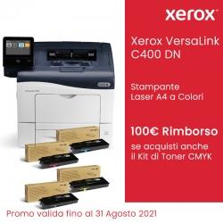 Xerox VersaLink C400 DN con Kit Toner CMYK Standard + Rimborso 100 Euro da Xerox FINO AL 31/08/2021
