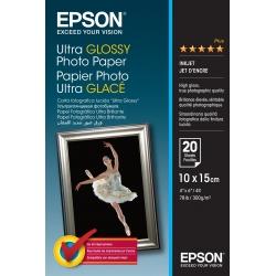 Epson Ultra Glossy Photo Paper - 10x15cm - 20 Fogli