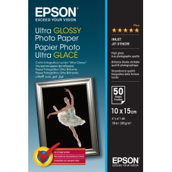 Epson Ultra Glossy Photo Paper - 10x15cm - 50 Fogli