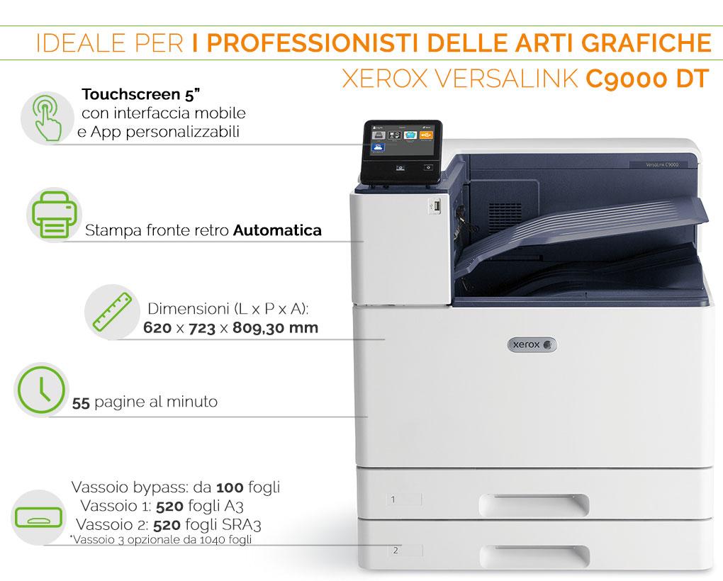 XEROX VERSALINK C9000 Ideale per i professionisti delle arti grafiche