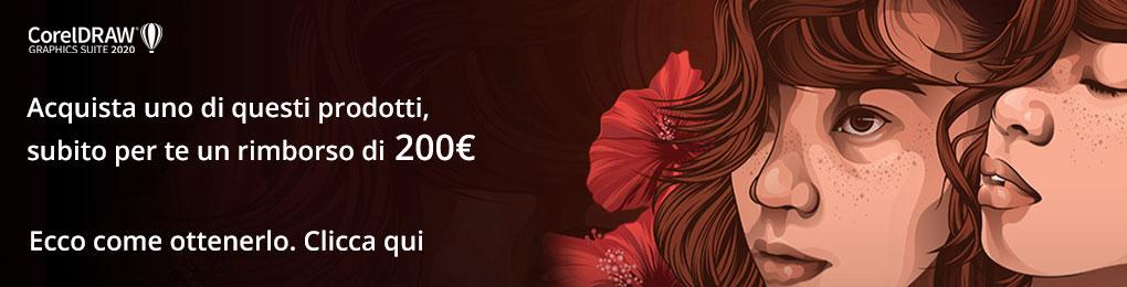 CorelDRAW ti rimborsa 200 euro