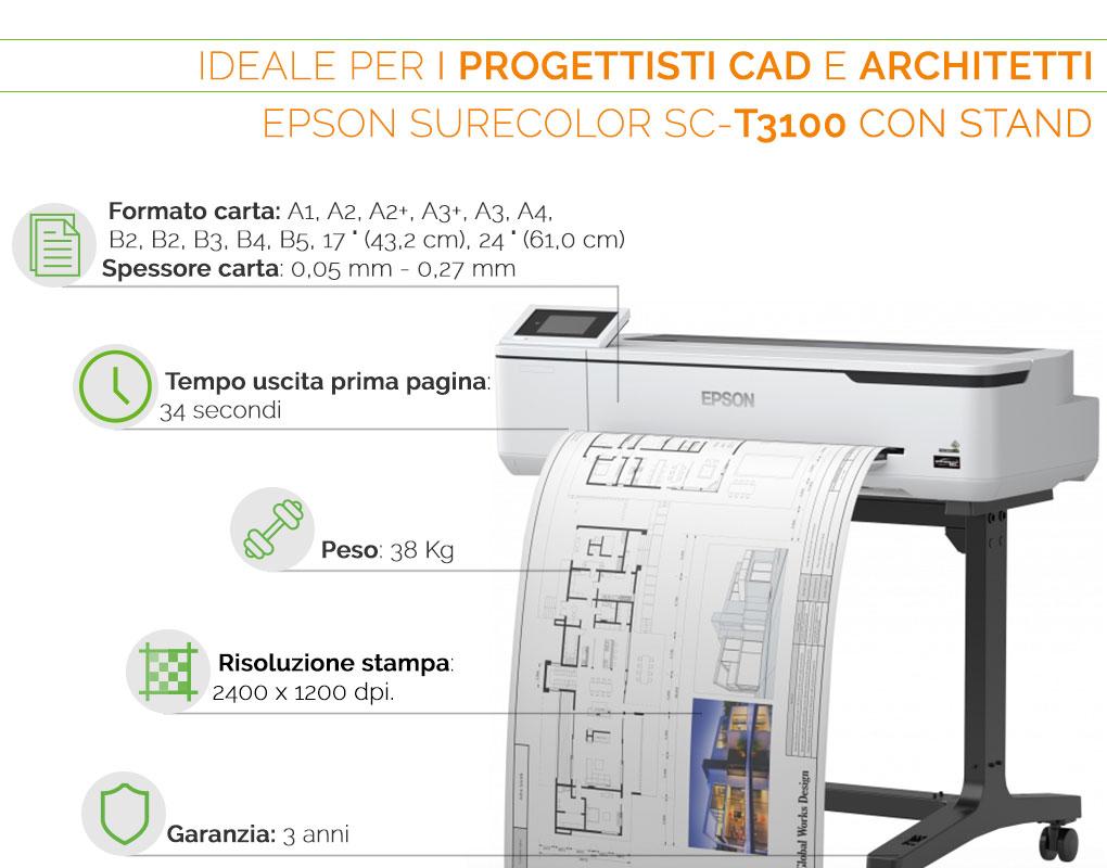 Epson SureColor SC T 310 il plotter ideale per progettisti CAD e architetti