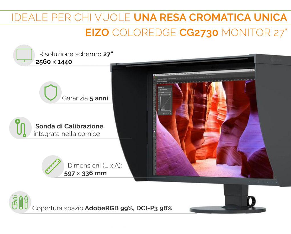 """EIZO ColorEdge CG2730 monitor 27"""" Ideale per chi vuole una resa cromatica eccellente"""