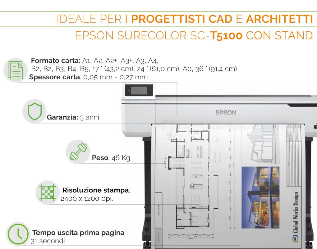 Epson SureColor SC T 5100 il plotter ideale per progettisti CAD e architetti