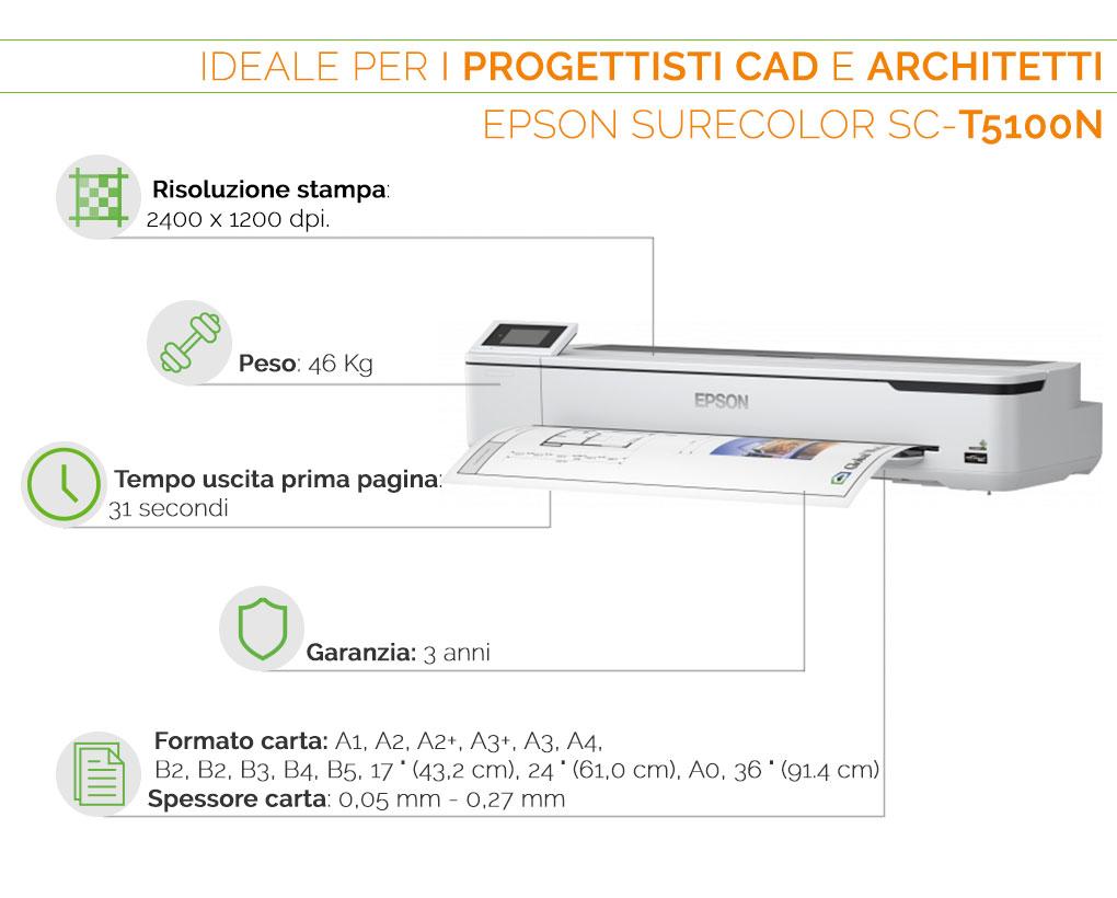 Epson SureColor SC T 5100 N il plotter ideale per progettisti CAD e architetti