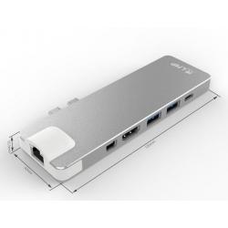 LMP USB-C Compact Dock 8-Porte (Silver)
